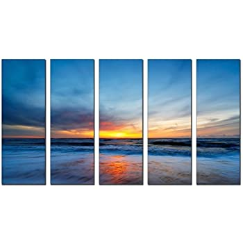 vibrant canvas prints sunset beach print on canvas beach canvas prints sunset ocean print seascape canvas designs framed 5 panel print sunset wall art