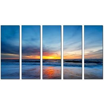vibrant canvas prints sunset beach print on canvas beach canvas prints sunset ocean print seascape canvas designs framed 5 panel print sunset wall art