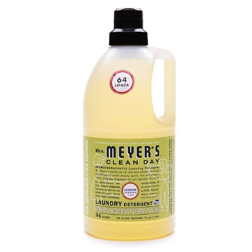 Mrs. Meyer's Clean Day Laundry Detergent, 64 Loads, Lemon Verbena 64 fl oz (1.89 L) Mrs. Meyer' s