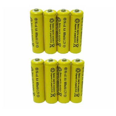 Perfect Home Station - 8 Piece Set AA NiCd 600mAh 1.2V Rechargeable Battery -