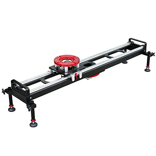 PROAIM Flyking Professional Camera Slider Dolly for Heavy Duty Camera Setup up to 70kg/154lbs | 360 degree Rotatable Slider | Mitchell Mount (4ft) by PROAIM