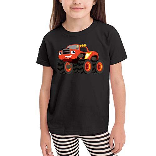 Rusuanjun Blaze and The Monster Machines Children's T-Shirt Black 2T Fun and Cute]()