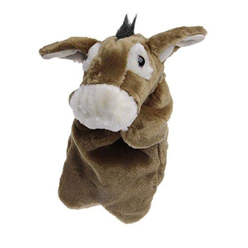 Donkey Puppet (Kocome Kids Animal Hand Finger Puppet Plush Donkey Doll Baby Development Teaching Toy)