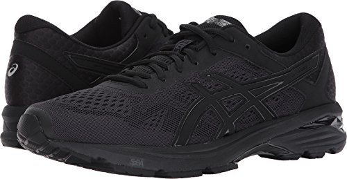 ASICS Mens GT-1000 6 Running Shoe, Black/Silver, 10.5 Medium US