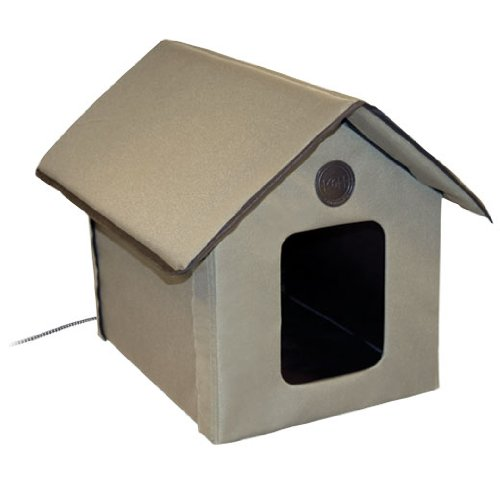 KandH Outdoor Kitty House, Heated, My Pet Supplies