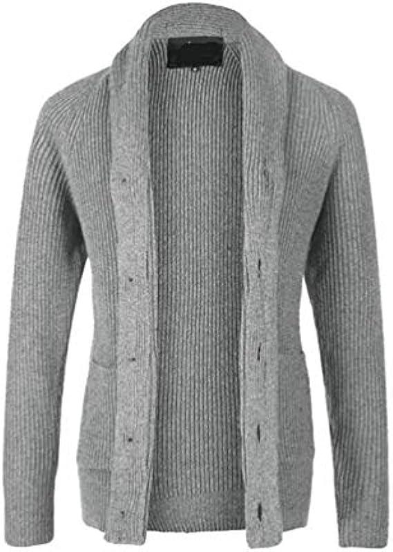 Męskie Strickjacke Mit Taschen Verdicken Cardigan Pullover Stil Einfacher Chunky Warme Strickwaren Jacket Revers Strickpulli Jumper Tops: Odzież