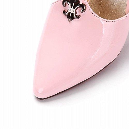 Élégant Style Bout Chaussures Rose Mi femmes À Pointu Carol Sandales Nouvelles Talon 7Pq0cISfwY