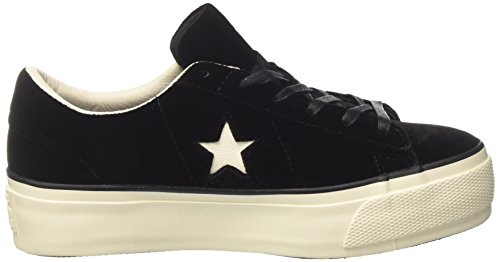 Donna One Converse Sneaker Star Black Black Egret Nero wf8aS84q