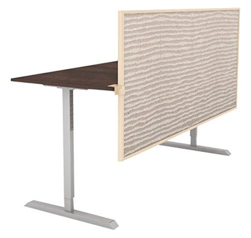 Obex 24X72A-L-BI-SS 24'' Acoustical Split Screen Privacy Panel, Birch, 24'' x 72''