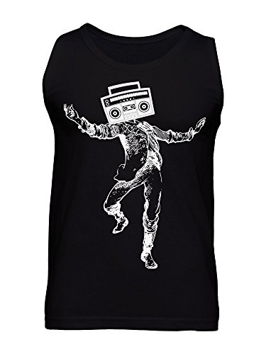 Human With A Radio On It's Head Men's Tank Top