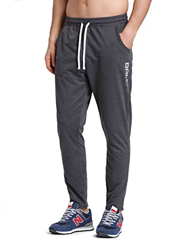 Baleaf Men's Tapered Athletic Running Pants Dark Gray Size - Men Apparel Running