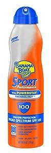 Banana Boat Sunscreen UltraMist Sport Performance Broad Spectrum Sun Care Sunscreen Spray - SPF 100, 6 Ounce