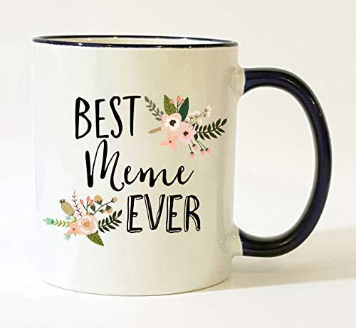 Meme Mug/Meme Grandma Mug/Best Meme Ever/Meme Coffee Cup/Mother's Day Gift/Christmas Present Birthday Gifts Pretty Feminine Floral Flowers