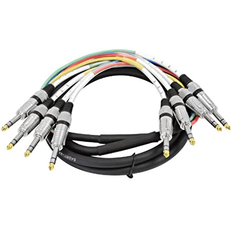 Amazon.com: 4 Channel 1/4 TRS Snake Cable - 10 Feet Long ...