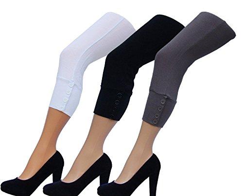 Unbekannt - Falda - Capri - Básico - para mujer barro