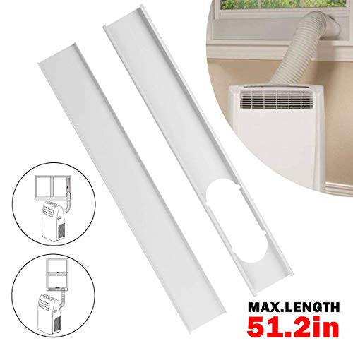 Forestchill Portable A/C Window Kit Replacement Window Adapter Adjustable Window Sealing Plate(51.2in) (Air Conditioner Window Kit)