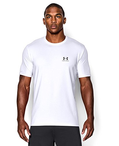 Under Armour Men's Charged Cotton Sportstyle T-Shirt, White/Graphite, XX-Large