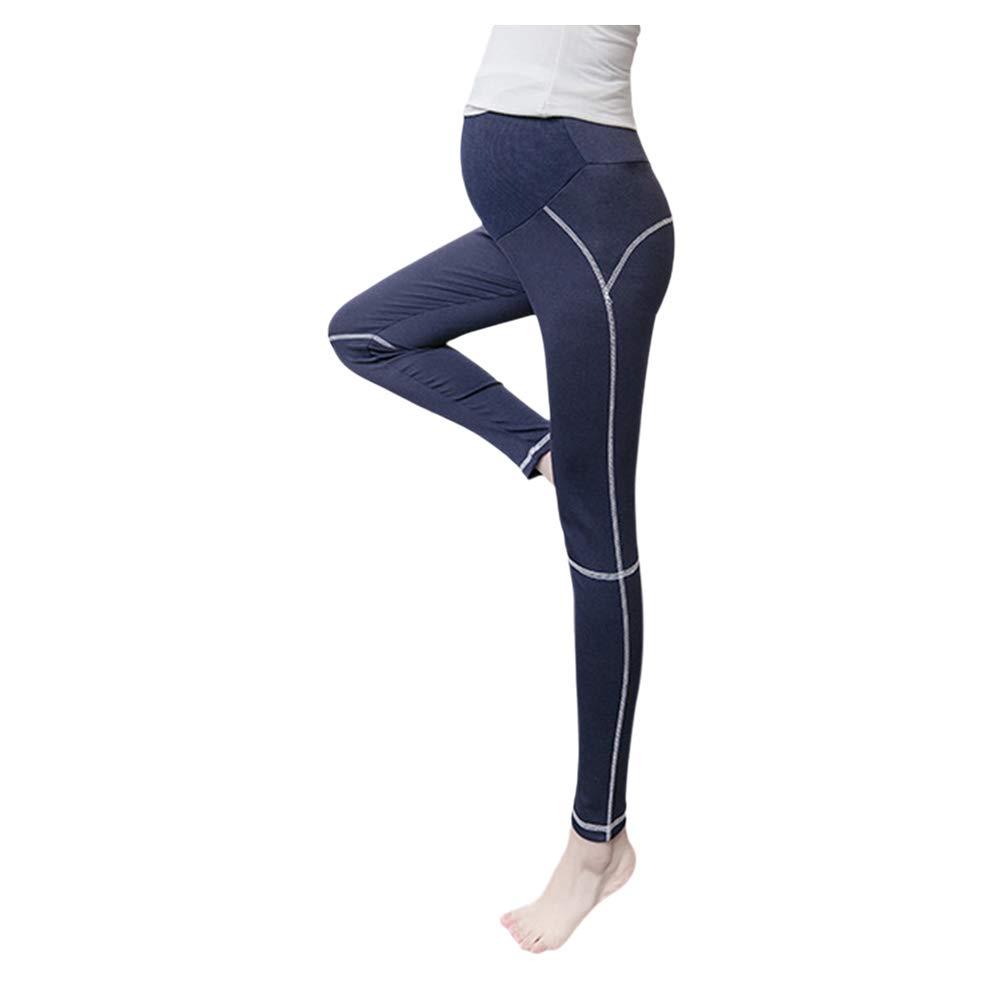 Deylaying Mujer Maternidad Elasticidad Yoga Pantalones ...