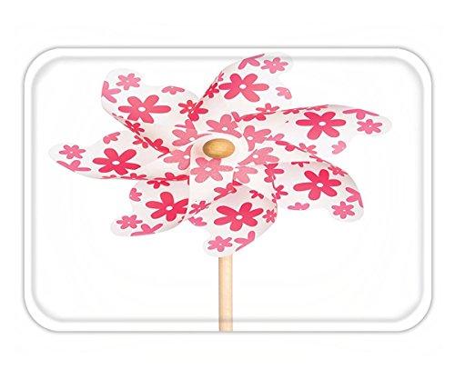 Minicoso Doormat Pinwheel Decorations Collection Pinwheel in Cheering Feminine Color Freedom Happiness Time Classic Art Pink (Pinwheels Crochet)