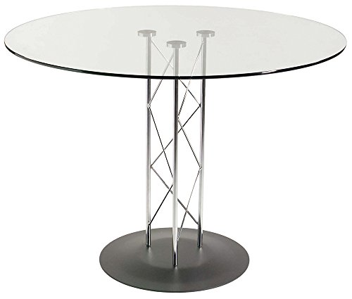 Discount glass top dining table 32 inch diameter sale buy cheapest price discount shop - Inch diameter dining table ...