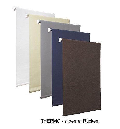 Dekondo - Thermo Verdunkelungsrollo Seitenzug Rollo Klemmrollo BRAUN ohne Bohren verschiedene Größen (60x150cm)