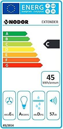 Faston chirm Campana Nodor 60 cm con vidrio negro de apertura/Instalación Campana Potente motor con 650 m³/h/ECO iluminación LED/Campana/empotrable Campana/Campana Canalizado/Recirculación – capó: Amazon.es: Grandes electrodomésticos