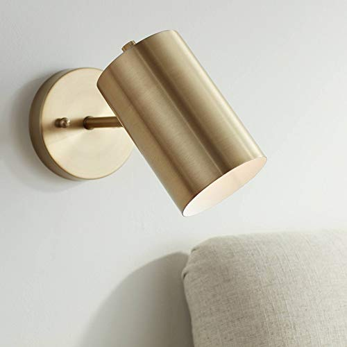 Carla Polished Brass Down-Light Hardwire Wall Lamp - 360 Lighting