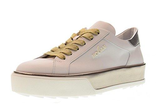 Hogan HXW3200AG80IW50QBU R320 Woman Shoes Low Silver Sneakers Platform White 4PXr4q6wfx