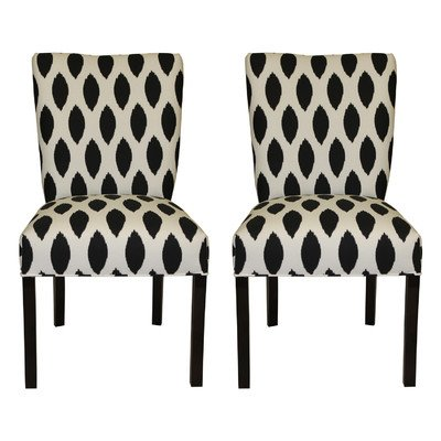 SOLE Designs Julia Collection Dining Chairs, A Set of 2 Upholstered Modern Dining Room Chairs, Side ChairFamous Chaz Pattern (Upholstered Side Chairs)