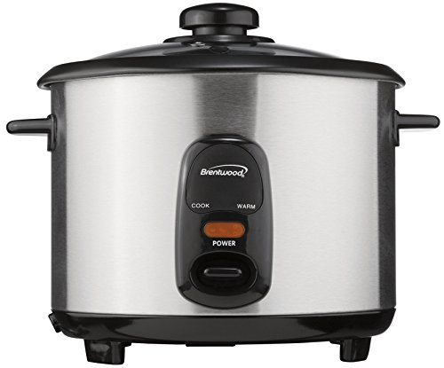 Brentwood TS-15 Appliances 8 Cup Rice Cooker, Silver