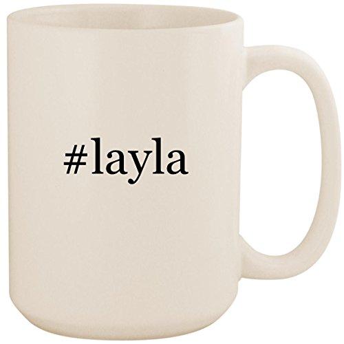 #layla - White Hashtag 15oz Ceramic Coffee Mug Cup