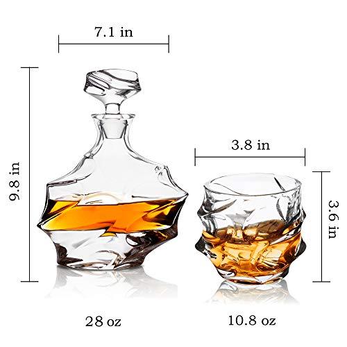 KANARS Emperor Whiskey Decanter And Glasses Set With Luxury Gift Box For Scotch + Bourbon + Liquor, 5-Piece, Original by KANARS (Image #3)