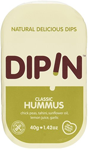 DipIn Natural Classic Hummus (Pack of 12) (1.42 oz) by DIPIN