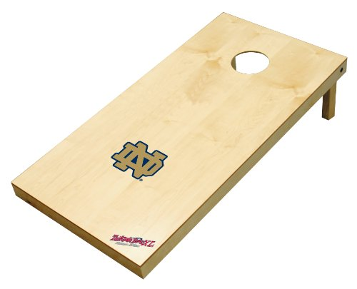 Wild Sports NCAA College Notre Dame Fighting Irish 2' x 4' Authentic Cornhole Game Set (Dame Tables Notre)