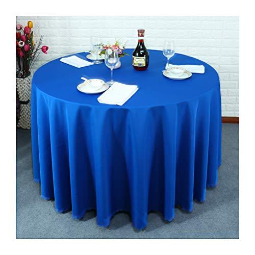 L diameter300cm KSWD Restaurant Occidental Rond Nappe de Table, Couleur Unie Un hôtel Salle de Mariage épaissie Rectangulaire voitureré,L,diameter300cm