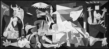 quadri & cornici HB - Picasso  Guernica  quadro,stampa su legno, poster su legno, bordo nero