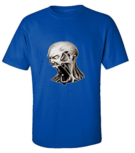 [Dead Walking Scary Halloween Zombies Costume - Adult Shirt S Royal] (Zombie Costume Ideas For Adults)
