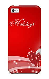 Case Cover Iphone 5c Protective Case Happy Christmas Holidays