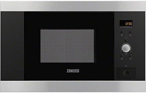 Zanussi ZBM17542XA Integrado 16.8L 800W Acero inoxidable - Microondas (Integrado, 16,8 L, 800 W, Botones, Giratorio, Acero inoxidable, Izquierda)
