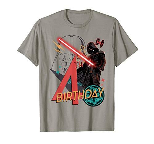 Star Wars Darth Vader 4th Birthday Abstract Background T-Shirt (Star Wars Birthday Shirt)