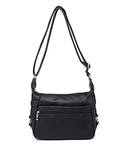 Craze London - Cross Leatherette Bag Black Women