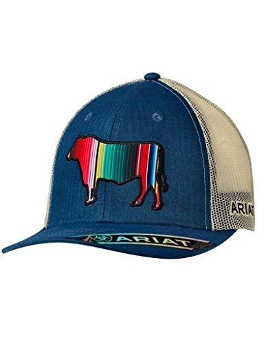 ARIAT Men's Serape Bull Trucker Cap, Blue, OS