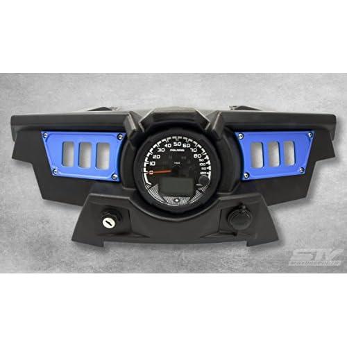 STV Motorsports Custom Aluminum Blue Dash Panel for Polaris