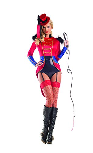 Party King Women's Sexy Lion Tamer Costume, Red, -