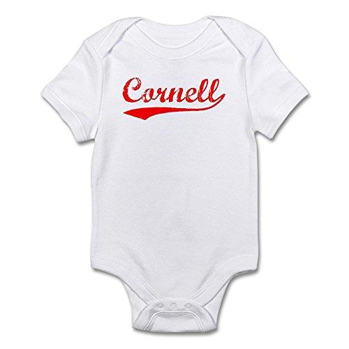 CafePress Vintage Cornell (Red) - Cute Infant Bodysuit Baby Romper Cornell Vintage Apparel