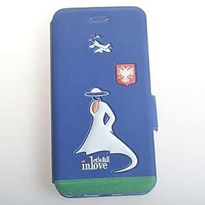 YULIN Funda de Cuerpo Entero - Vista de la ciudad - para iPhone 6 ( Blanco/Azul/Multicolor , Cuero PU/TPU )