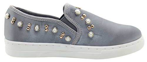Slider Pearl Shoes Grey Face True Skate Beaded Pumps Plimsolls qBIxzw5