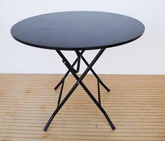 Amazoncom 36 Black Round Folding Display Table Kitchen Dining