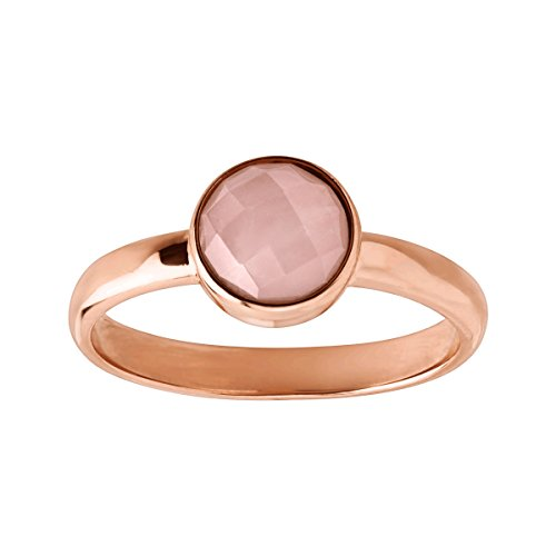 (Silpada 'Making Me Blush' 1/2 ct Natural Rose Quartz Ring in 14K Rose Gold-Plated Sterling Silver)