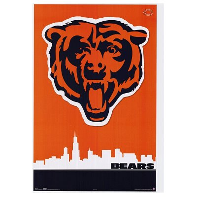 a62801c5 Amazon.com: Chicago Bears Logo Skyline POSTER Midway Monsters NFL - 24x36:  Kitchen & Dining